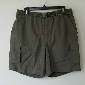 Lands' End Dark Olive Green Hiking Shorts
